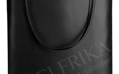 Dámská nákupní kabelka z ekokůže černá