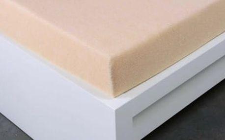 XPOSE ® Bambusové froté prostěradlo jednolůžko - bílá káva 90x200 cm
