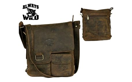 Pánská taška z pravé kůže LB143-H Brown