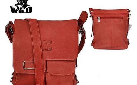 Pánská taška z pravé kůže LB143-H Red