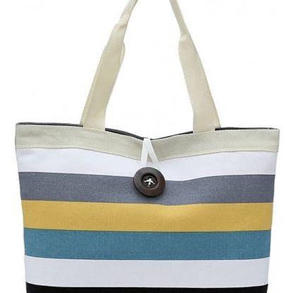 Dámská kabelka s barevnými pruhy - varianta 1 - dodání do 2 dnů