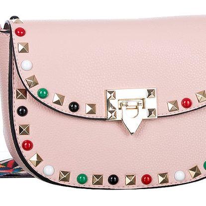 Fashion Icon Dámská kabelka přes rameno s vícebarevným popruhem