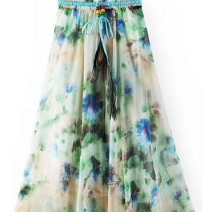 Letní sukně s květinovým motivem -13 variant