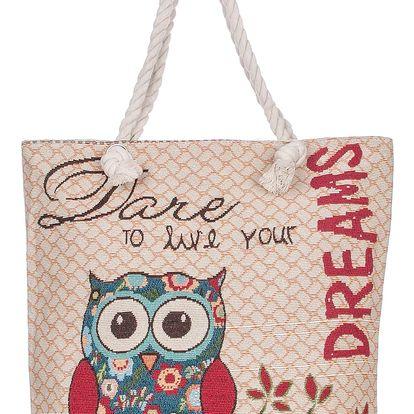 Dámská taška se sovičkami Dare Dreams lněná