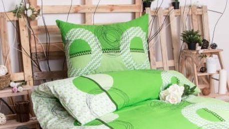 XPOSE ® Krepové povlečení LADA - zelená 140x200, 70x90