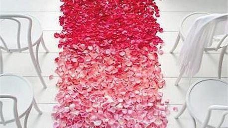 Set 500 kusů umělých lístků růží