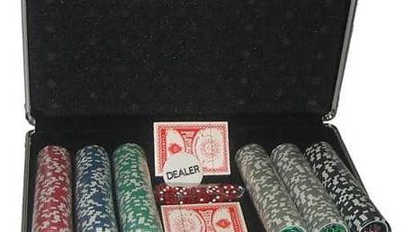 Poker Master 300 v alu kufru s označením hodnot