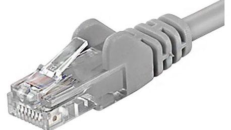 PremiumCord Patch (cat5e) UTP, šedý, 50m - sputp500