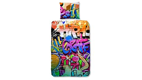 Dětské bavlněné povlečení Müller Textiel Graffity, 140x200cm