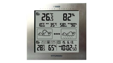 Meteorologická stanice Hyundai WS 2244 M stříbrná