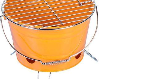 Gril na dřevěné uhlí BBQ Collection gril typu kbelík, oranžová