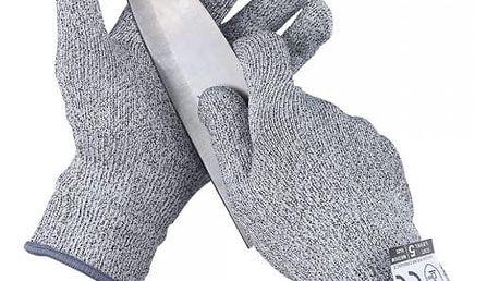 Odolné pracovní rukavice v šedé barvě