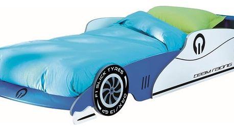 Dětská postel ve tvaru závoďáku Demeyere Grand Prix, 90x200cm - doprava zdarma!