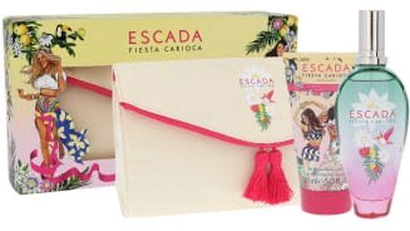 Escada Fiesta Carioca dárková kazeta pro ženy toaletní voda 100 ml + tělové mléko 150 ml + kosmetická taška