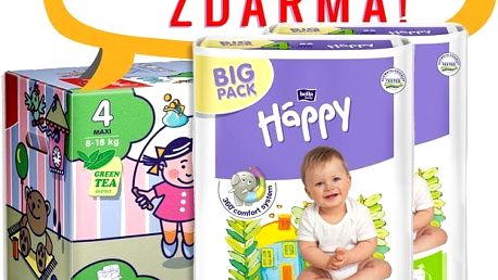 BELLA HAPPY Maxi Plus Big Pack 4 (9-20 kg) 124 ks – jednorázové pleny
