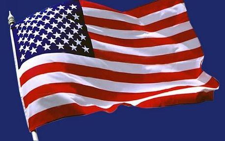 Americká vlajka na zeď
