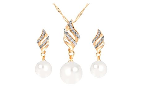 Sada šperků pro ženy - zlatá barva - dodání do 2 dnů
