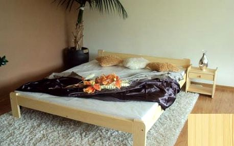 Postel z masivu Anetka 140x200 borovice + rošt borovice