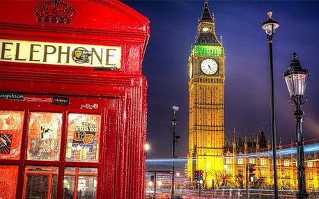 4denní poznávací zájezd do Londýna s ubytováním včetně snídaně pro 1