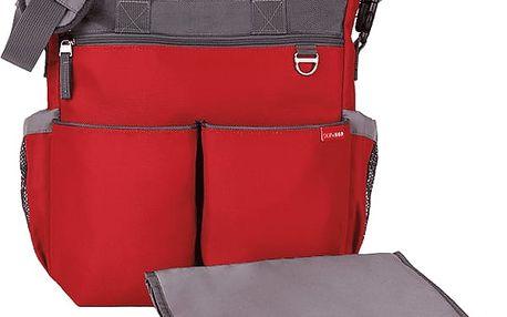 SKIP HOP Přebalovací taška Duo Signature - červená