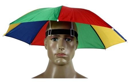 Deštník na hlavu - různobarevná varianta - dodání do 2 dnů