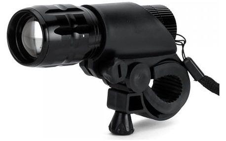 LED světlo na kolo s baterkou v jednom - černá barva - dodání do 2 dnů