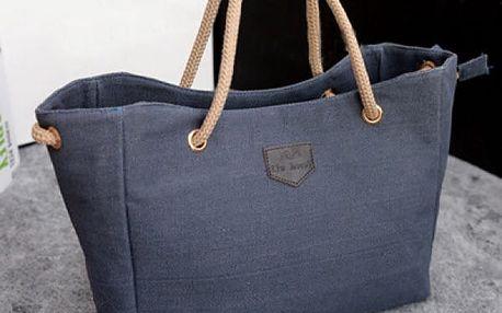 Ležérní plátěná kabelka přes rameno - 4 barvy - dodání do 2 dnů