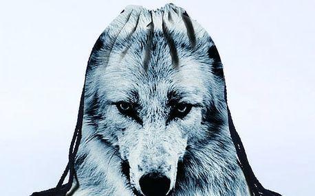 Vak na záda s motivem vlka - dodání do 2 dnů