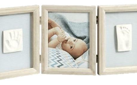 BABY ART Dvojitý rámeček na otisky + foto – White