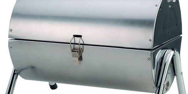Gril na dřevěné uhlí BBQ Collection přenosný gril, stříbrná