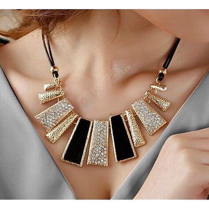 Luxusní náhrdelník na běžné nošení - černá - dodání do 2 dnů