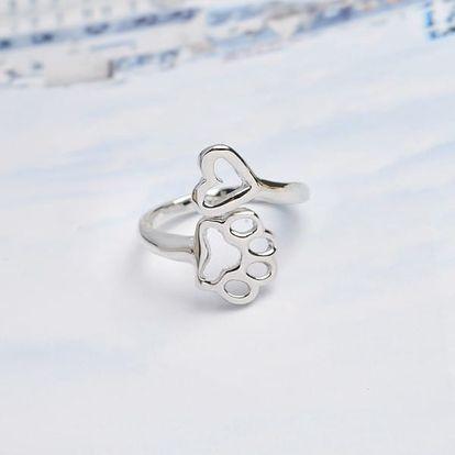 Roztomilý prsten se zvířecí tlapkou