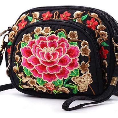 Mini kabelka s květinovou výšivkou