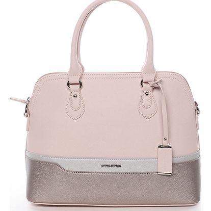 Originální dámská kabelka do ruky růžová - David Jones Tilly růžová
