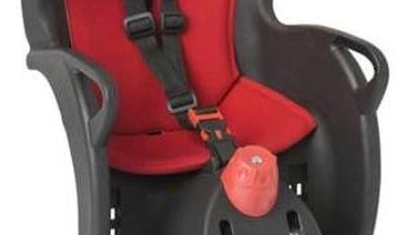 Cyklosedačka Hamax SLEEPY černá/červená + Reflexní sada 2 SportTeam (pásek, přívěsek, samolepky) - zelené v hodnotě 58 Kč + Doprava zdarma