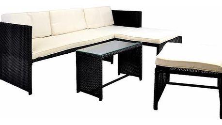 Garthen 31937 Zahradní polyratanový set včetně stolku