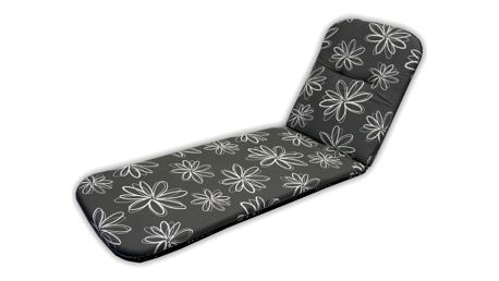 Polstrování na lehátko SCALA LIEGE - šedá s květy 30200-700