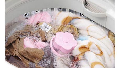 Kytička na odstranění vlasů při praní - růžová - dodání do 2 dnů