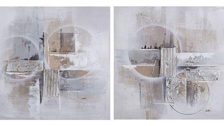 Sada 2 obrazů Ixia Abstract, 60x60cm - doprava zdarma!