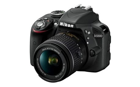 Digitální fotoaparát Nikon D3300 + 18-55 AF-P DX černý