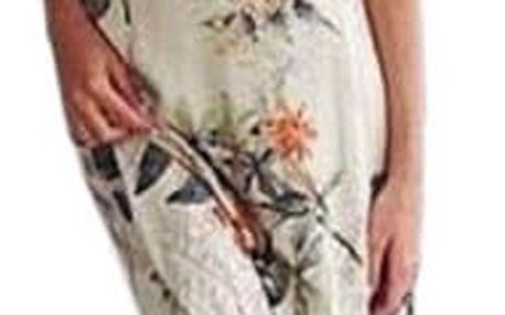 Letní dvojdílné šaty s květinovým vzorem