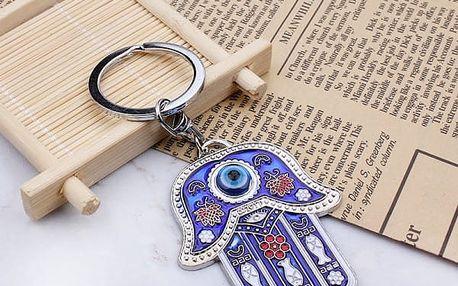 Přívěsek na klíče - modré oko