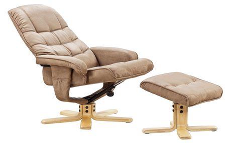 Relaxační křeslo s taburetem FM-417