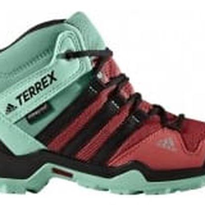 Dětská treková obuv adidas TERREX AX2R MID CP K 38 TACPNK/CBLACK/EASGRN