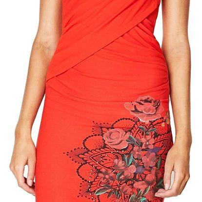 Desigual červené šaty Sutton - L