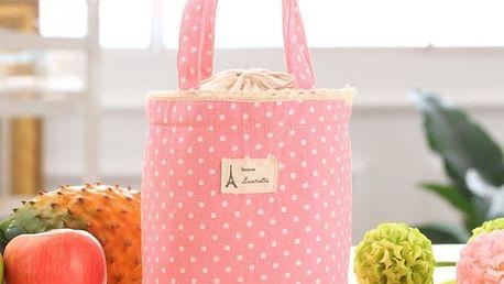 Roztomilá termo taška na obědy - růžová - dodání do 2 dnů