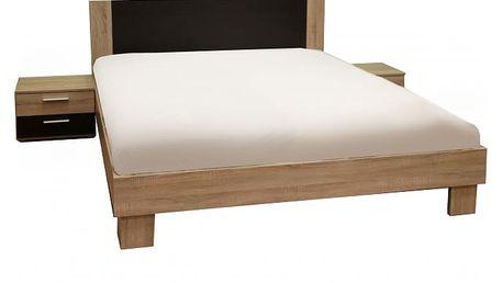 Helen - komplet, postel 160cm (dub sonoma, dub denver)