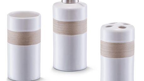 Bílý 4dílný koupelnový set Zeller Accesories