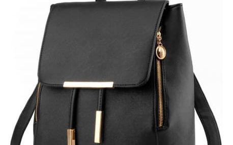Dámský batůžek v elegantním provedení - černá barva - dodání do 2 dnů
