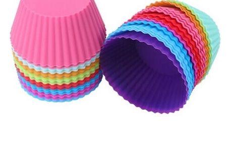 12 ks silikonových formiček na výrobu cupcaků - dodání do 2 dnů
